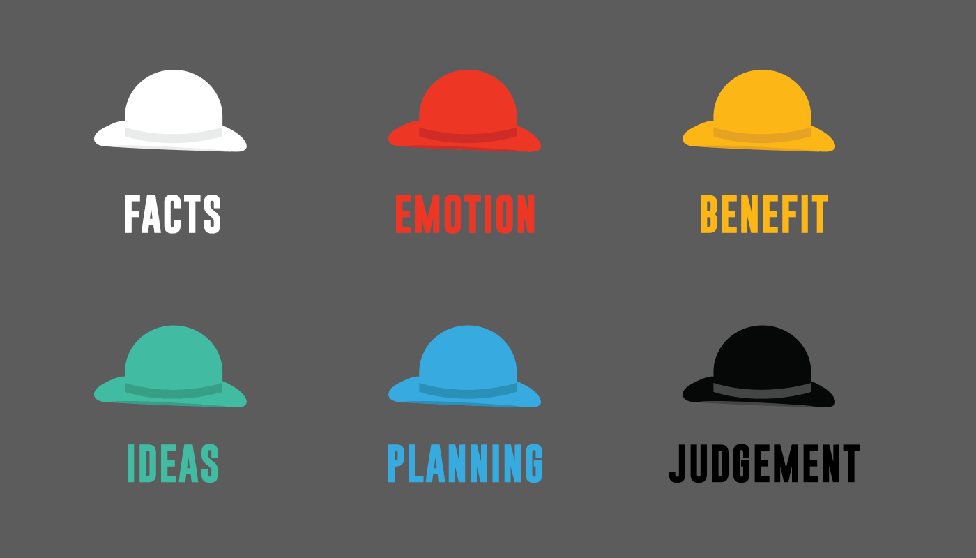 Switch hats and optimize your thinking