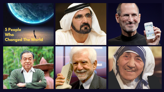Five People Who Changed The World